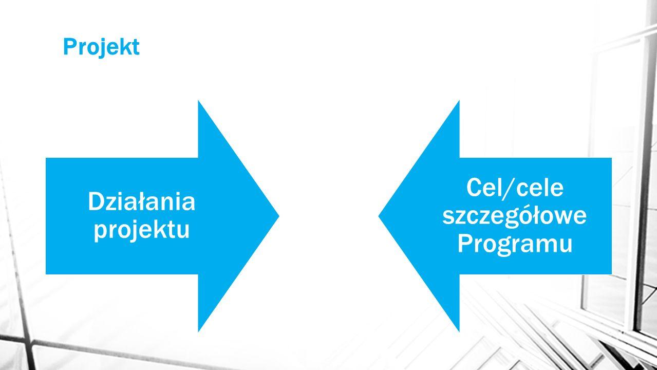 Projekt Działania projektu Cel/cele szczegółowe Programu