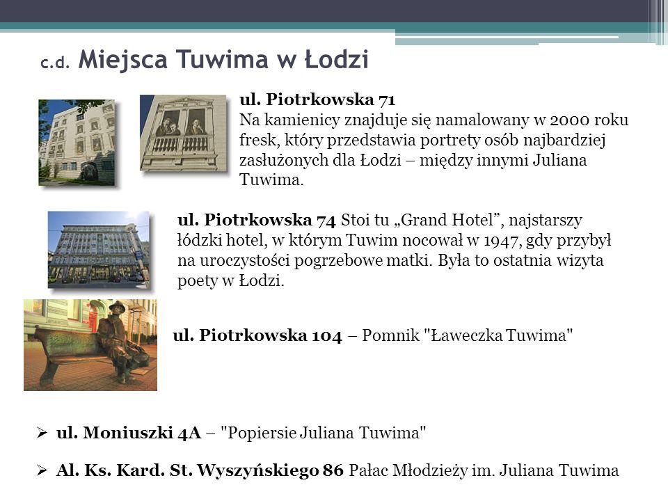 c.d. Miejsca Tuwima w Łodzi ul.