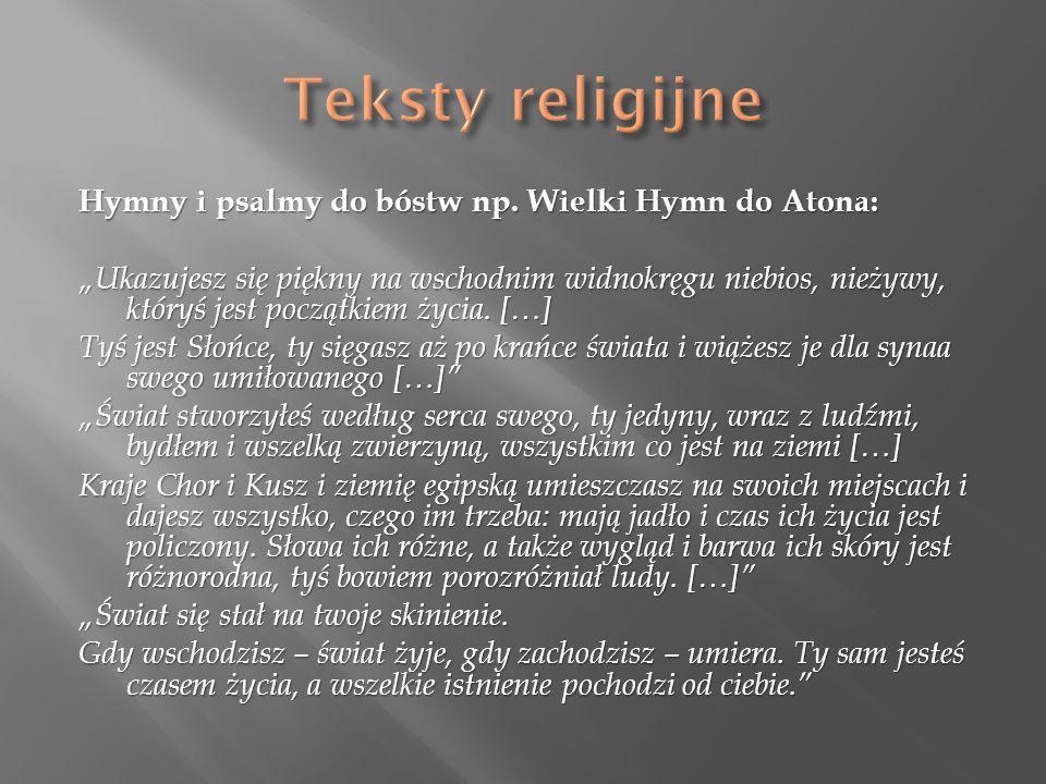 Hymny i psalmy do bóstw np.