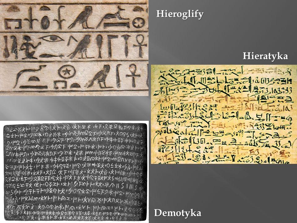 Hieroglify Hieratyka Demotyka