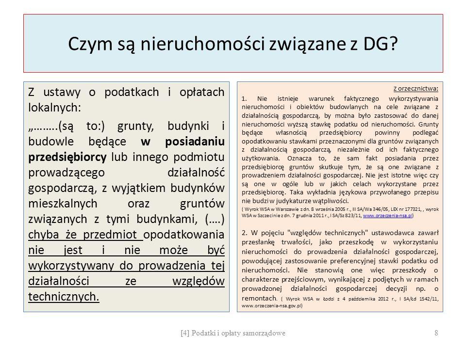 Czym są nieruchomości związane z DG.