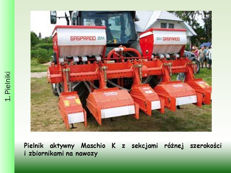 1. Pielniki Pielnik aktywny Maschio K z sekcjami różnej szerokości i zbiornikami na nawozy