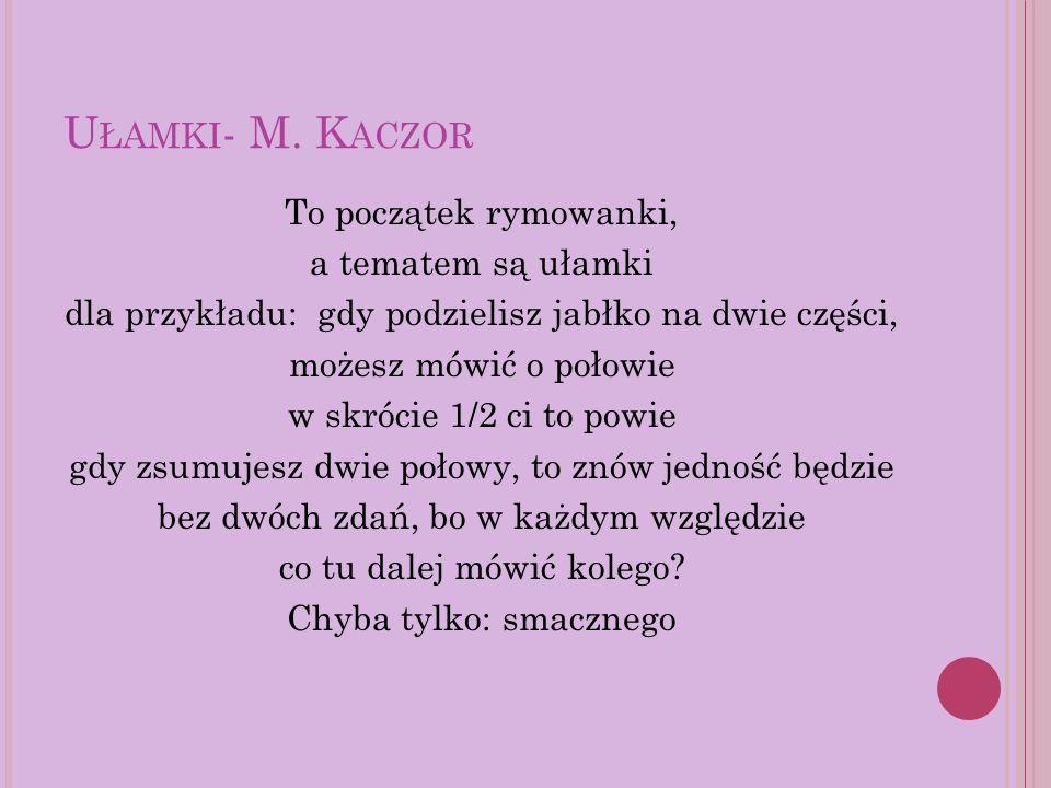 U ŁAMKI - M.