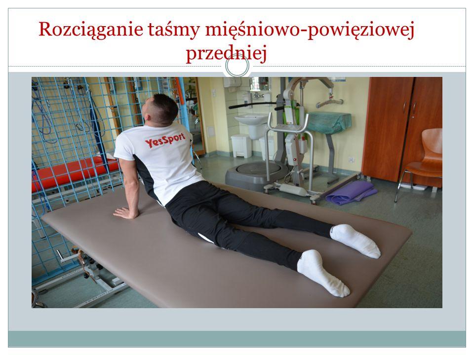 Rozciąganie taśmy mięśniowo-powięziowej przedniej