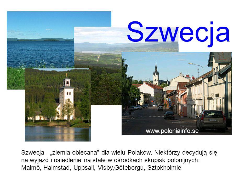 """Szwecja - """"ziemia obiecana"""" dla wielu Polaków. Niektórzy decydują się na wyjazd i osiedlenie na stałe w ośrodkach skupisk polonijnych: Malmö, Halmstad"""