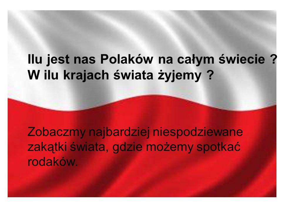 Ilu jest nas Polaków na całym świecie . W ilu krajach świata żyjemy .