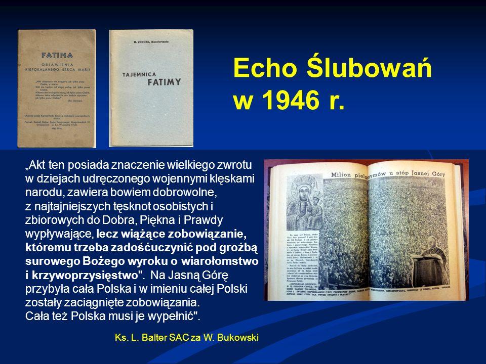 Echo Ślubowań w 1946 r.