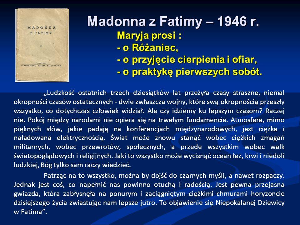Madonna z Fatimy – 1946 r.
