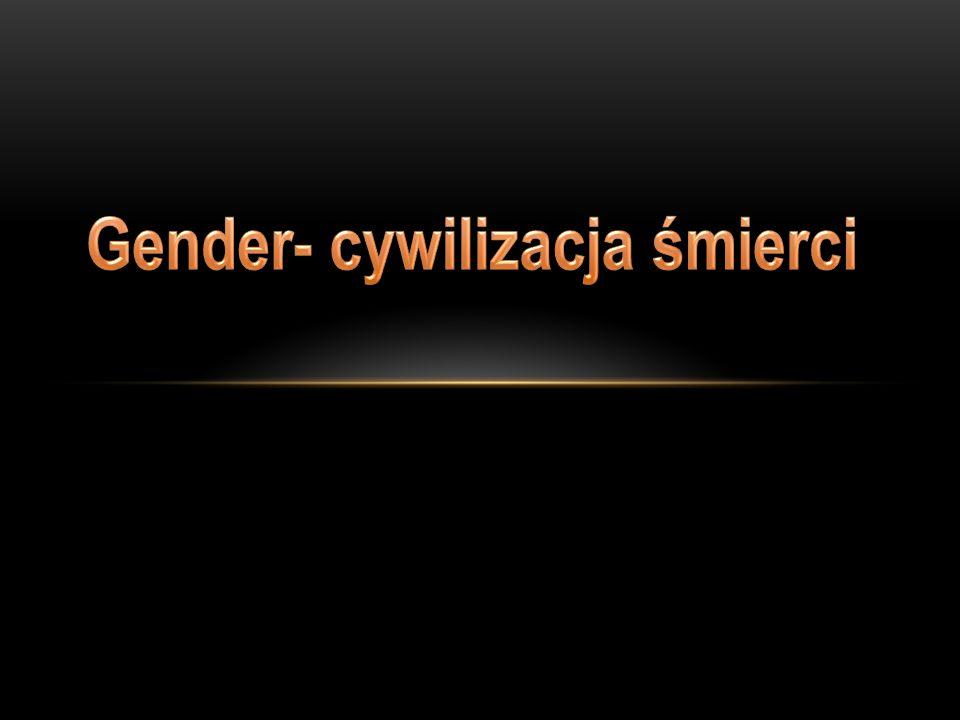 GENDER wychodzi z założeń antropologicznych określających człowieka wyłącznie przez pryzmat jego seksualności, przy czym płeć ich zdaniem ma charakter jedynie kulturowy, stąd przyjmowanie biologicznych uwarunkowań płci jest dyskryminacją;