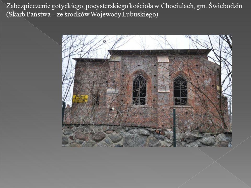 Zabezpieczenie gotyckiego, pocysterskiego kościoła w Chociulach, gm.