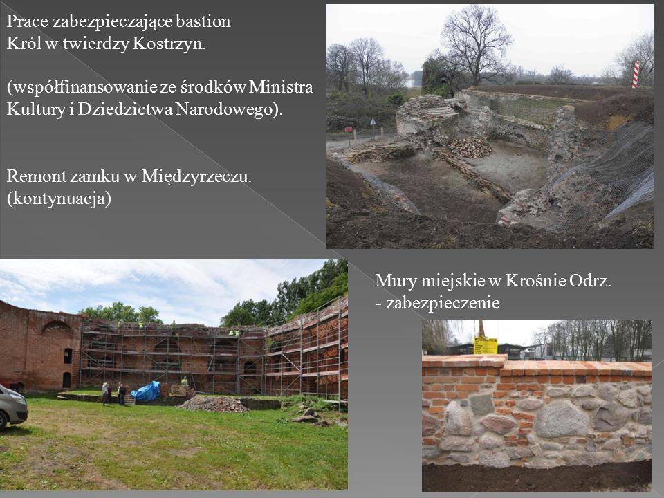 Prace zabezpieczające bastion Król w twierdzy Kostrzyn.