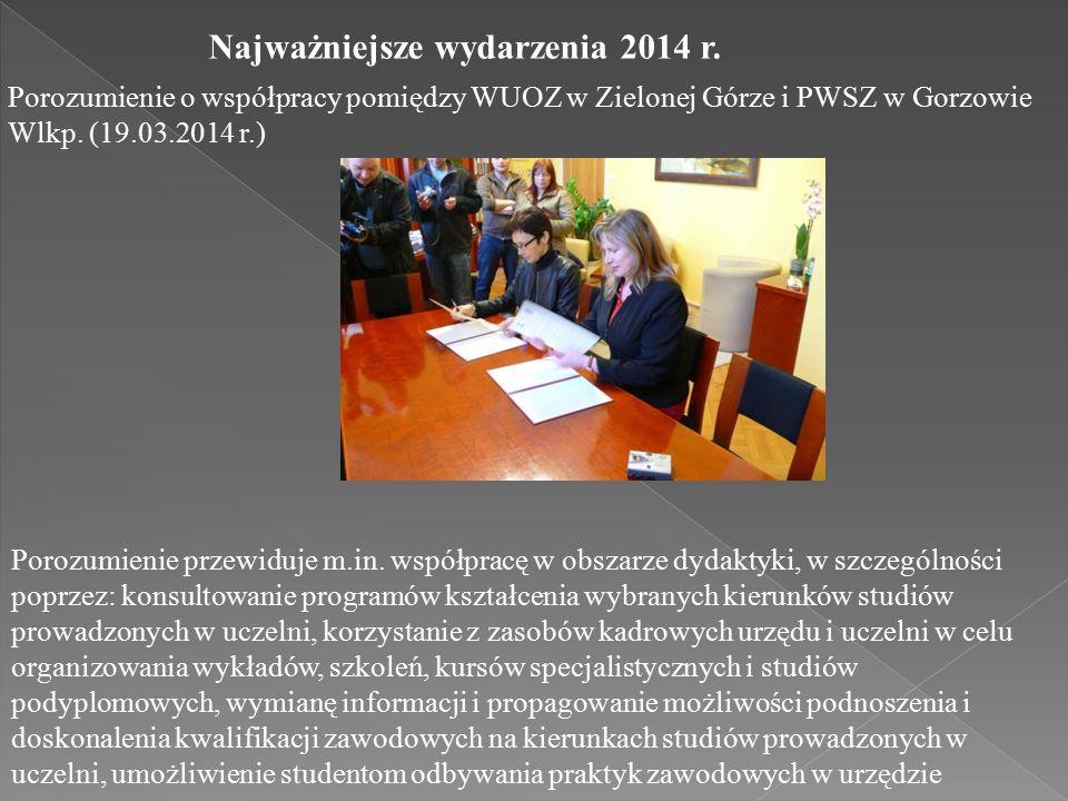 Porozumienie o współpracy pomiędzy WUOZ w Zielonej Górze i PWSZ w Gorzowie Wlkp.