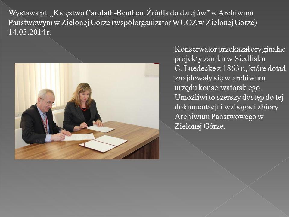 """Wystawa pt. """"Księstwo Carolath-Beuthen."""
