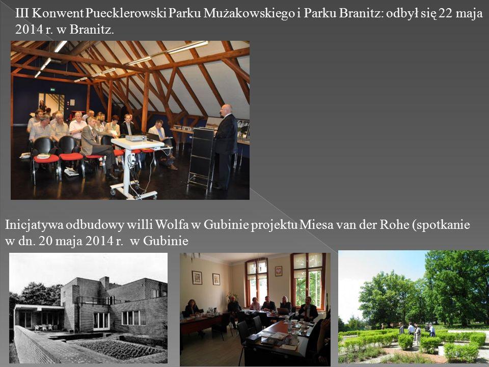 III Konwent Puecklerowski Parku Mużakowskiego i Parku Branitz: odbył się 22 maja 2014 r.