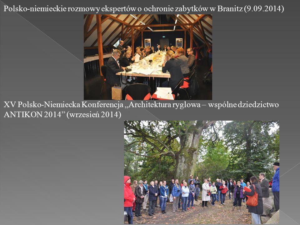 """XV Polsko-Niemiecka Konferencja """"Architektura ryglowa – wspólne dziedzictwo ANTIKON 2014 (wrzesień 2014) Polsko-niemieckie rozmowy ekspertów o ochronie zabytków w Branitz (9.09.2014)"""