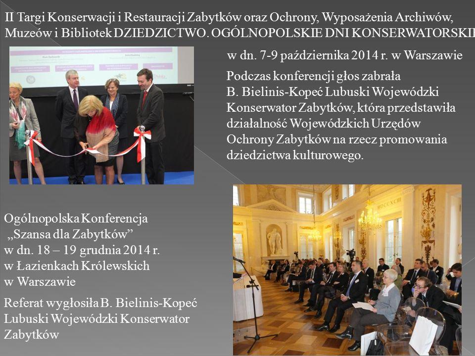 II Targi Konserwacji i Restauracji Zabytków oraz Ochrony, Wyposażenia Archiwów, Muzeów i Bibliotek DZIEDZICTWO.