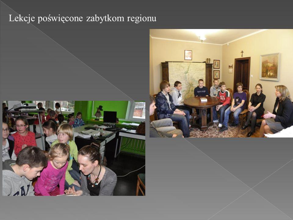 Lekcje poświęcone zabytkom regionu