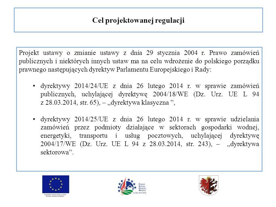 Cel projektowanej regulacji Projekt ustawy o zmianie ustawy z dnia 29 stycznia 2004 r.
