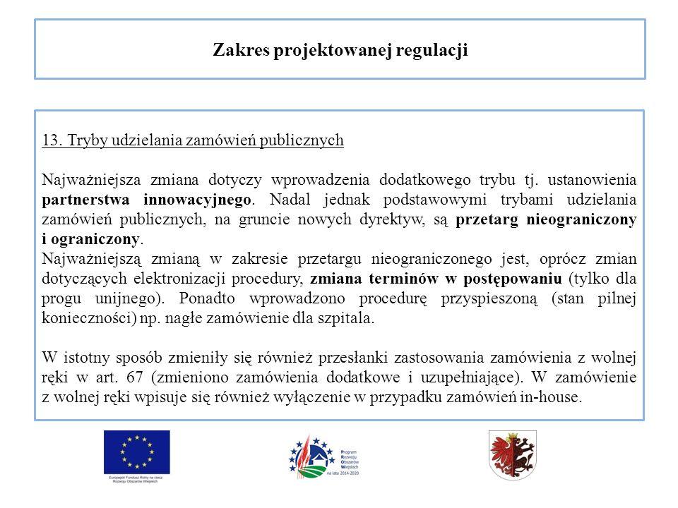 Zakres projektowanej regulacji 13.