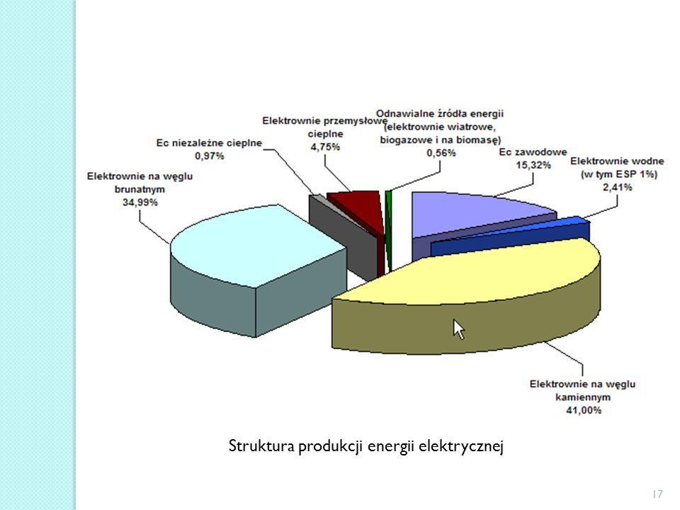 17 Struktura produkcji energii elektrycznej