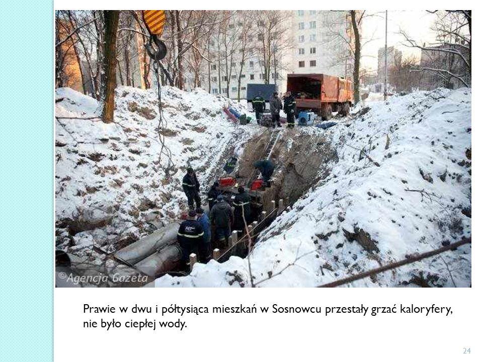 24 Prawie w dwu i półtysiąca mieszkań w Sosnowcu przestały grzać kaloryfery, nie było ciepłej wody.