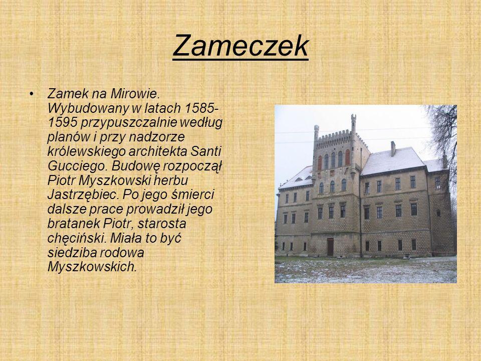 Zameczek Zamek na Mirowie.
