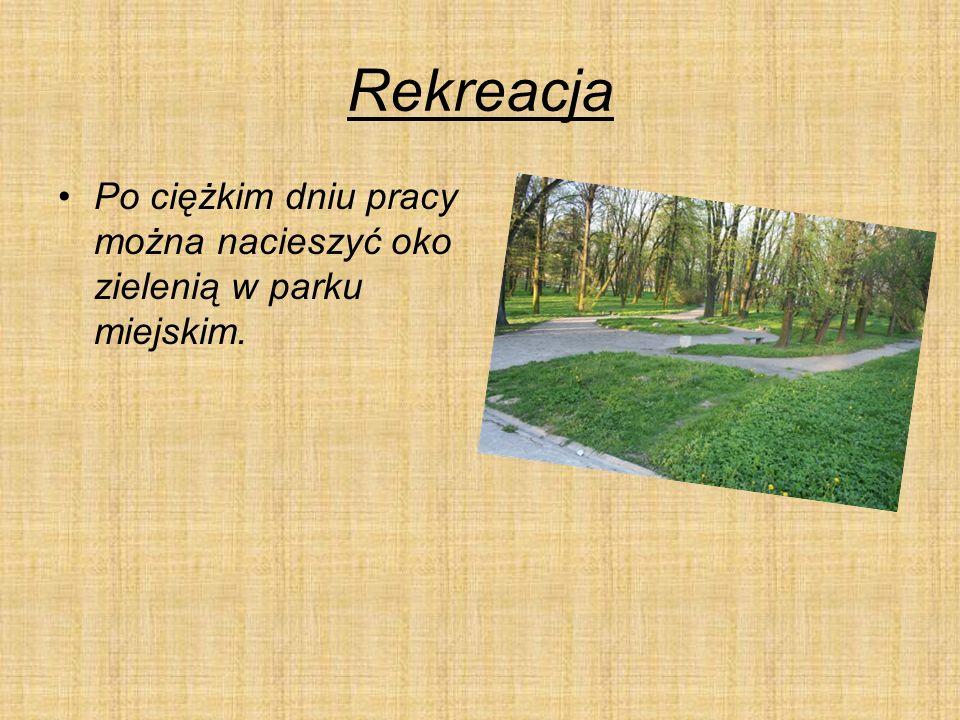 Rekreacja Po ciężkim dniu pracy można nacieszyć oko zielenią w parku miejskim.