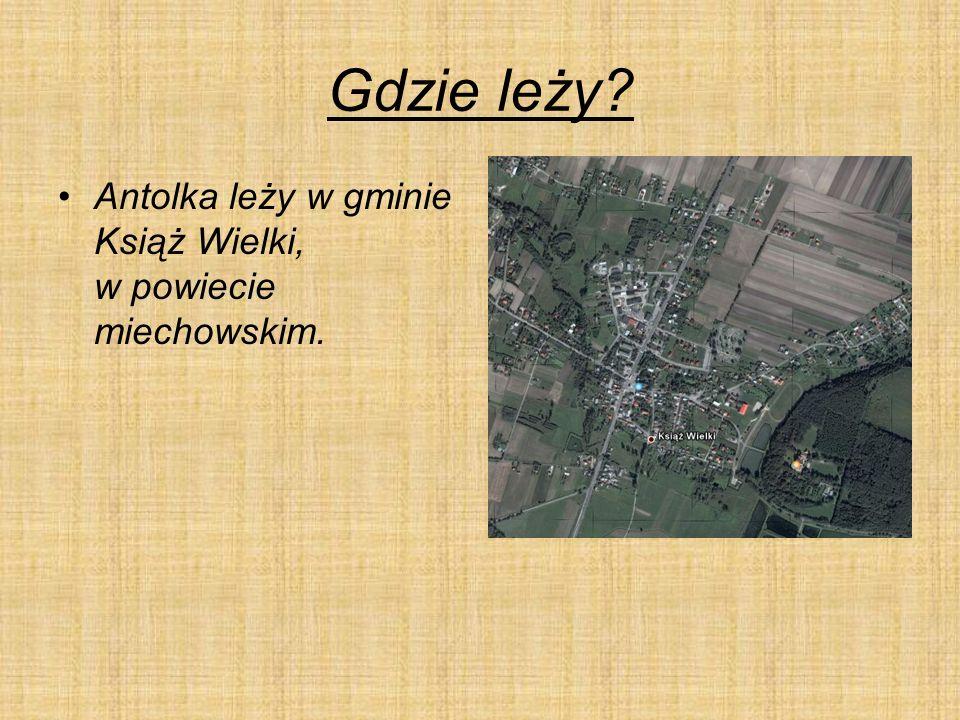 Gdzie leży Antolka leży w gminie Książ Wielki, w powiecie miechowskim.