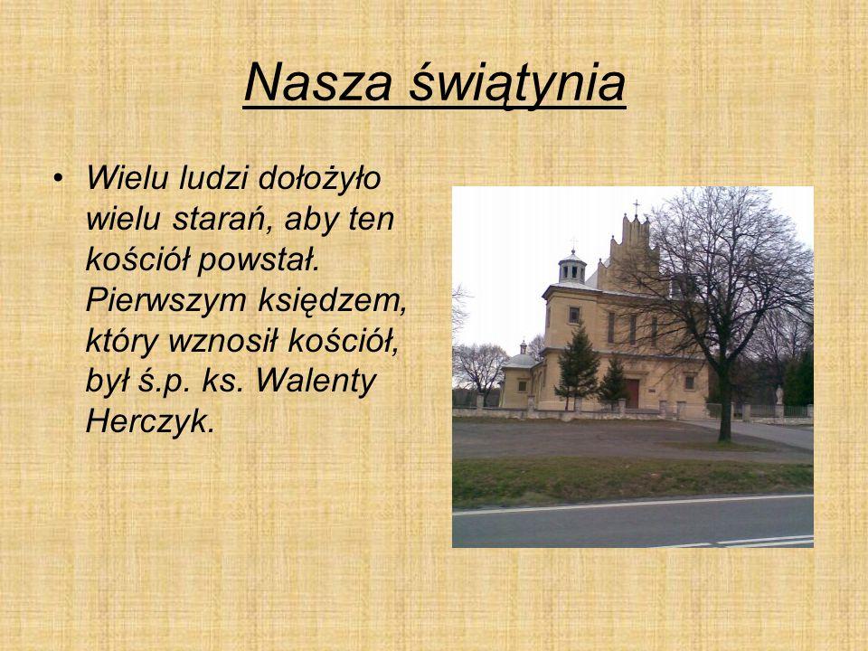 Nasza świątynia Wielu ludzi dołożyło wielu starań, aby ten kościół powstał.