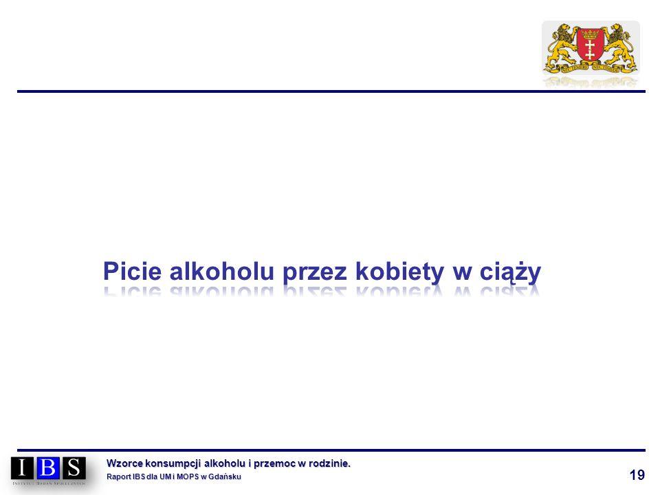 19 Wzorce konsumpcji alkoholu i przemoc w rodzinie. Raport IBS dla UM i MOPS w Gdańsku