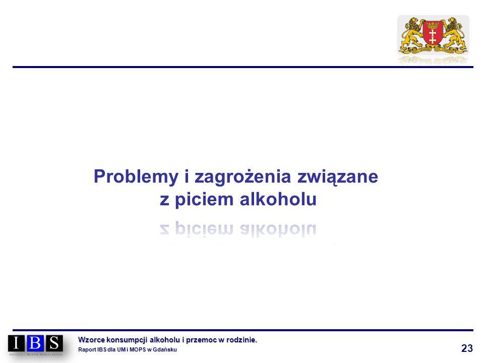 23 Wzorce konsumpcji alkoholu i przemoc w rodzinie. Raport IBS dla UM i MOPS w Gdańsku