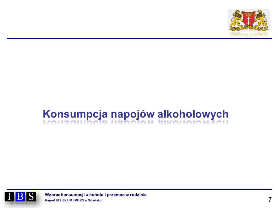 7 Wzorce konsumpcji alkoholu i przemoc w rodzinie. Raport IBS dla UM i MOPS w Gdańsku