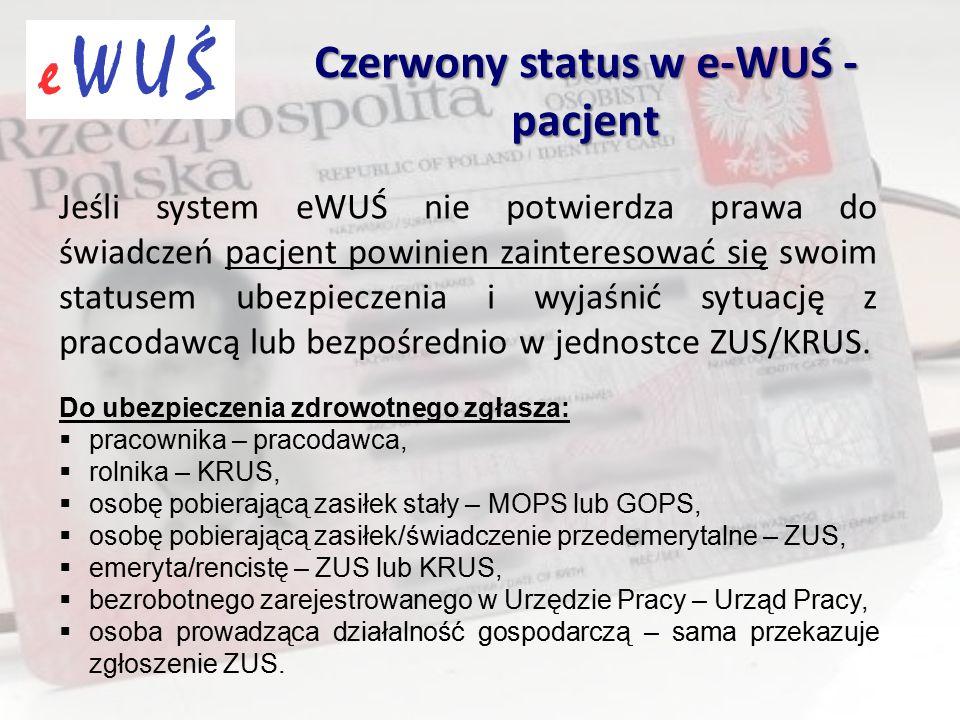 Jeśli system eWUŚ nie potwierdza prawa do świadczeń pacjent powinien zainteresować się swoim statusem ubezpieczenia i wyjaśnić sytuację z pracodawcą l