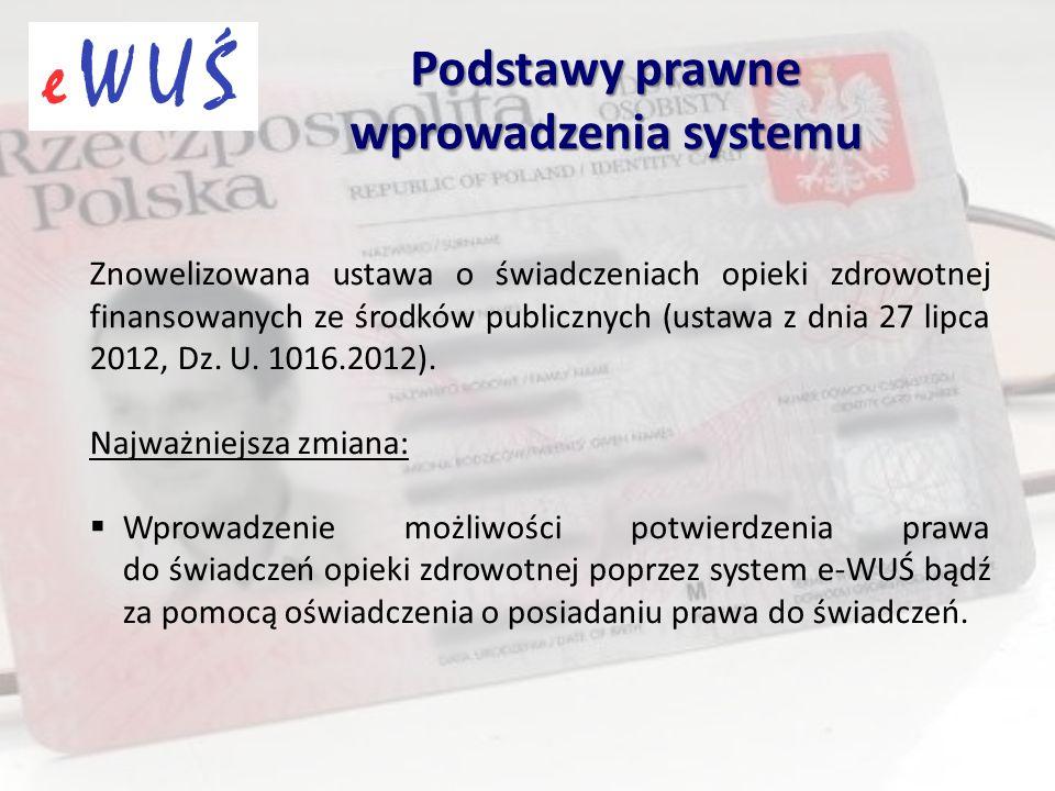 Znowelizowana ustawa o świadczeniach opieki zdrowotnej finansowanych ze środków publicznych (ustawa z dnia 27 lipca 2012, Dz. U. 1016.2012). Najważnie