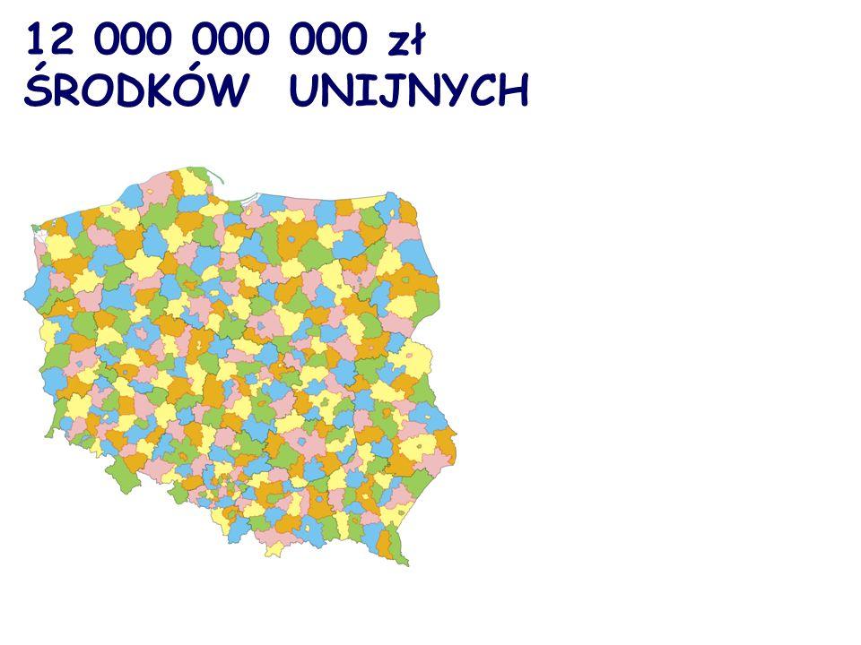 12 000 000 000 zł ŚRODKÓW UNIJNYCH
