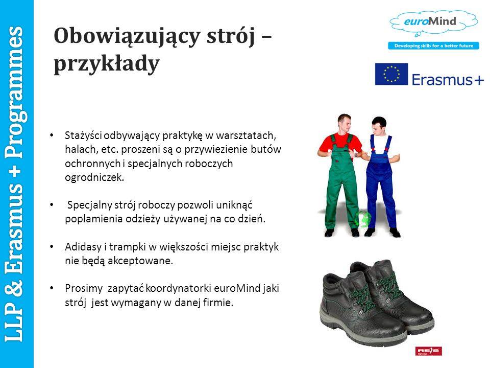 Obowiązujący strój – przykłady Stażyści odbywający praktykę w warsztatach, halach, etc.