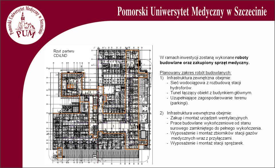W ramach inwestycji zostaną wykonane roboty budowlane oraz zakupiony sprzęt medyczny. Planowany zakres robót budowlanych: 1) Infrastruktura zewnętrzna