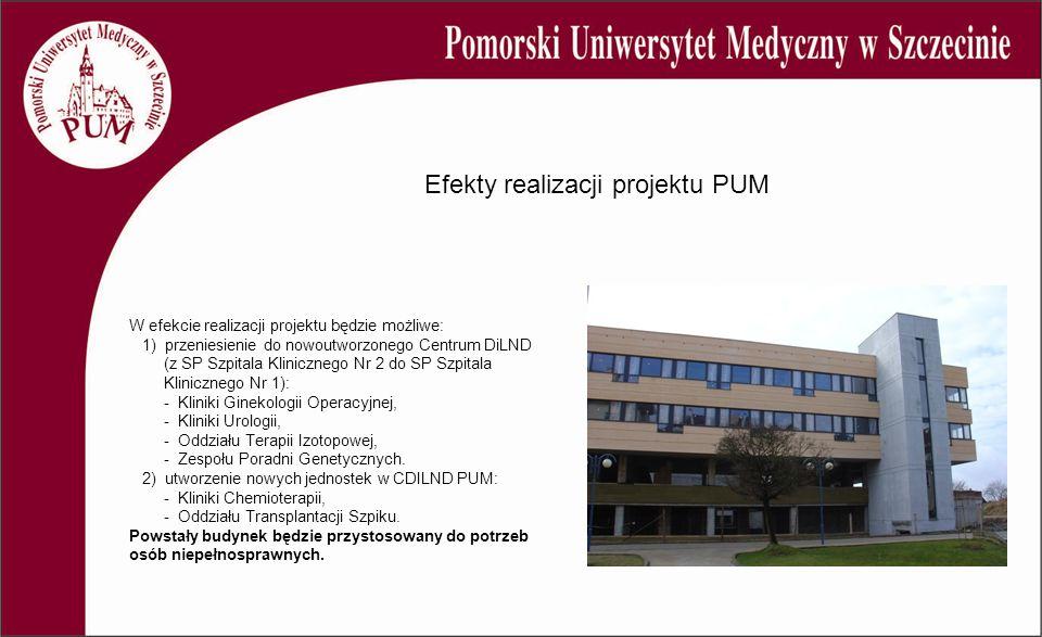 W efekcie realizacji projektu będzie możliwe: 1) przeniesienie do nowoutworzonego Centrum DiLND (z SP Szpitala Klinicznego Nr 2 do SP Szpitala Klinicz