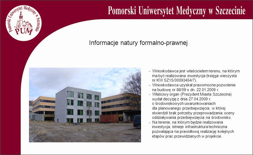 - Wnioskodawca jest właścicielem terenu, na którym ma być realizowana inwestycja (księga wieczysta nr KW SZ1S/00093454/7).