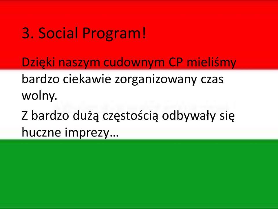 3. Social Program. Dzięki naszym cudownym CP mieliśmy bardzo ciekawie zorganizowany czas wolny.