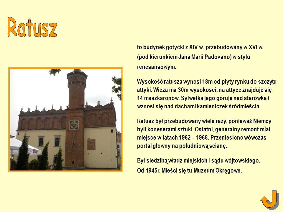 to budynek gotycki z XIV w. przebudowany w XVI w.