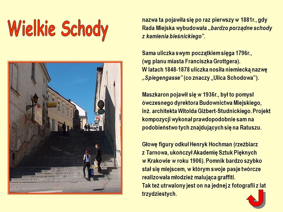 """nazwa ta pojawiła się po raz pierwszy w 1881r., gdy Rada Miejska wybudowała """"bardzo porządne schody z kamienia bieśnickiego ."""
