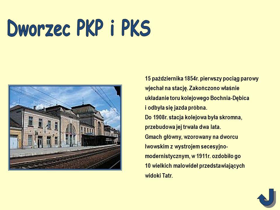 15 października 1854r. pierwszy pociąg parowy wjechał na stację.