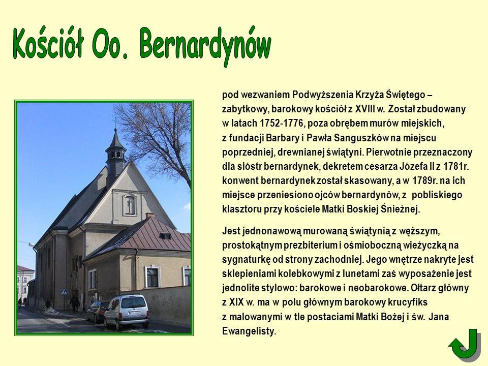 pod wezwaniem Podwyższenia Krzyża Świętego – zabytkowy, barokowy kościół z XVIII w.