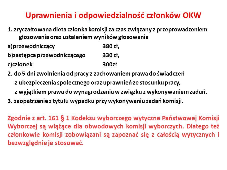 Uprawnienia i odpowiedzialność członków OKW 1.