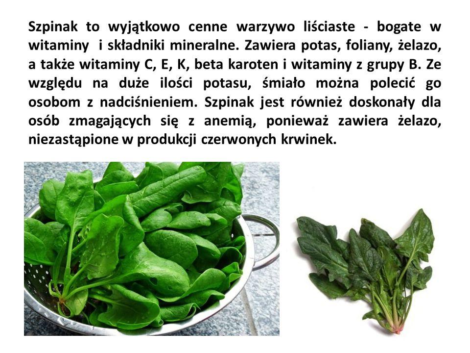 Szpinak to wyjątkowo cenne warzywo liściaste - bogate w witaminy i składniki mineralne.