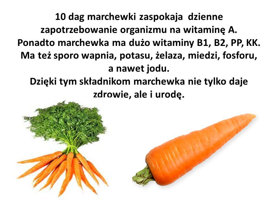 10 dag marchewki zaspokaja dzienne zapotrzebowanie organizmu na witaminę A.