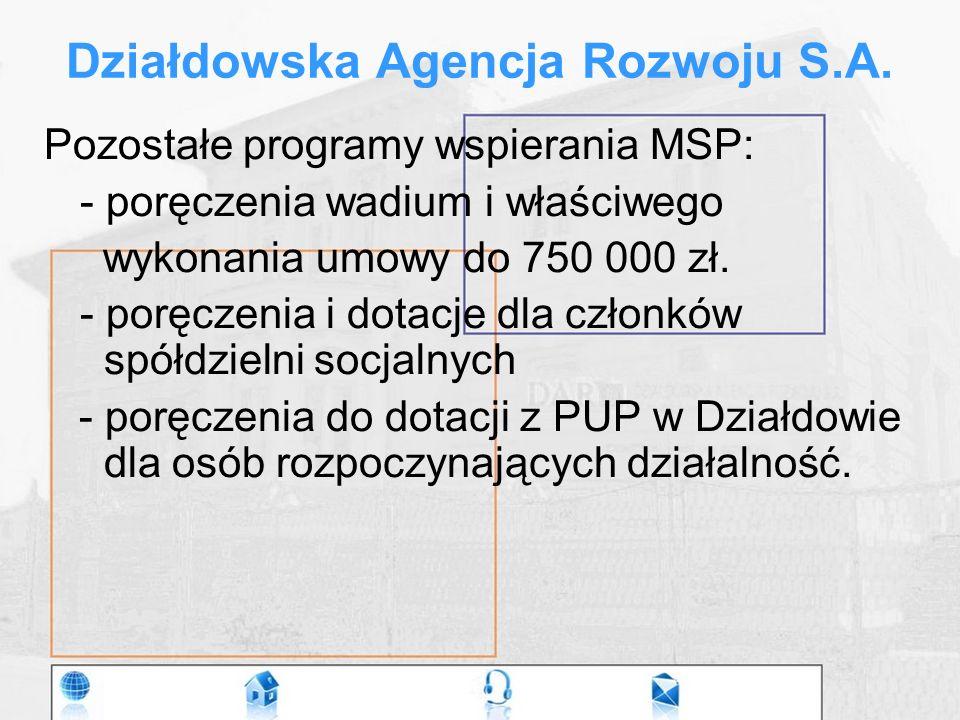 Działdowska Agencja Rozwoju S.A.