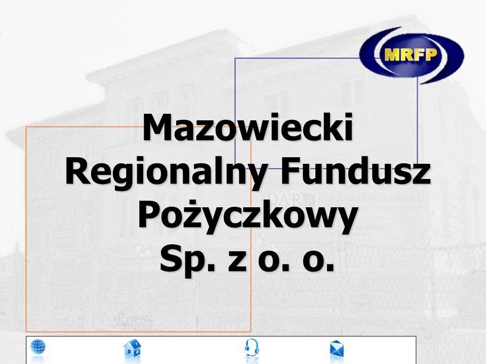 Mazowiecki Regionalny Fundusz Pożyczkowy Sp. z o. o.