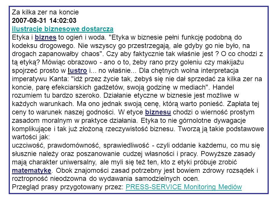 """http://arty.waw.pl/etyka-w-biznesie/ """"(…) Etyka biznesu jest poczuciem odpowiedzialności menedżerów i pracowników za zgodność sposobów i rezultatów działania przedsiębiorstwa z obowiązującymi w danym społeczeństwie normami etycznymi."""